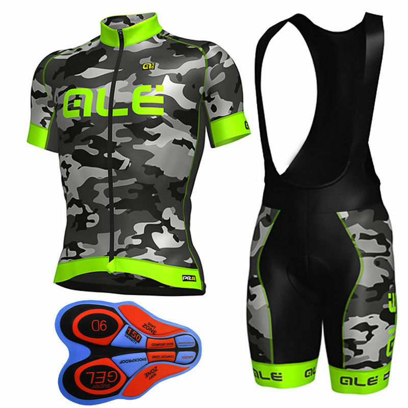 Details about Men Cycling Jersey Bib Shorts Kit Team Short Sleeve Bike Set  MTB Racing Clothing 04d1775c0