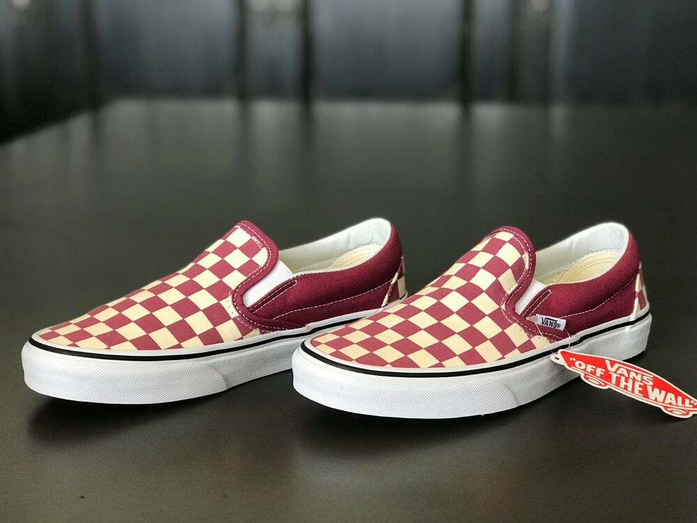 d98efc895f Details about Vans Classic Slip-On Shoe Checkerboard Dry Rose Skate Shoes Women s  Size 6.5