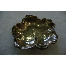 REED AND BARTON X102 STERLING .925 LEAF SHAPED DISH