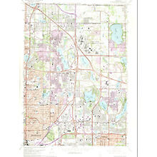 WHITE BEAR LAKE WEST, MINNESOTA 1967/73 USGS Topographic Map Original 7.5-minute