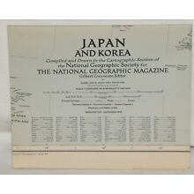 Vintage National Geographic Map - Japan and Korea 1945