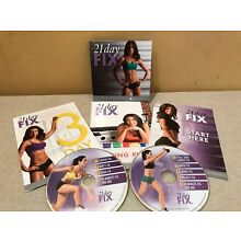 21 DAY FIX 2 DVD SET NEW FITNESS EATING PLAN EXERCISE FUN ENJOYMENT GYM PRESENT