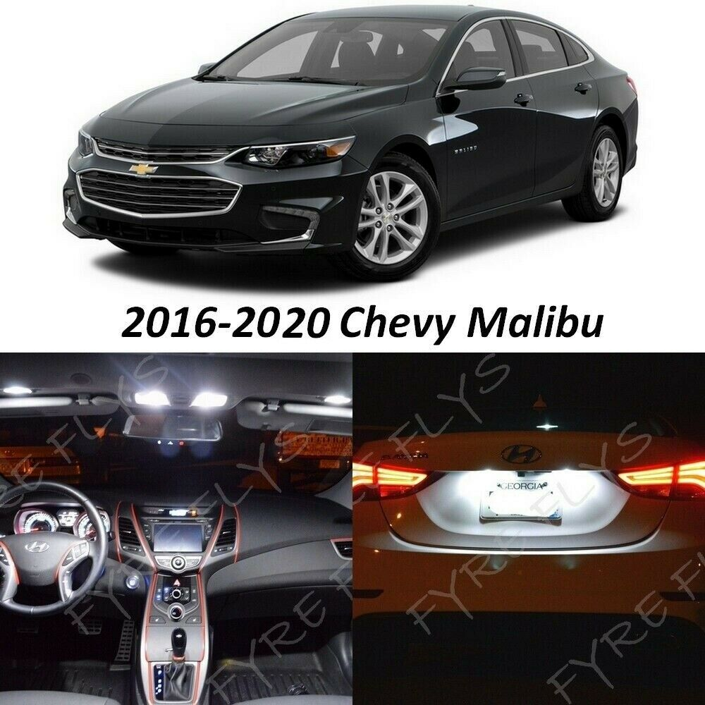 Details About 12x White Led Lights Interior Package Kit 2016 2018 2019 Chevy Malibu Tool Cm1w