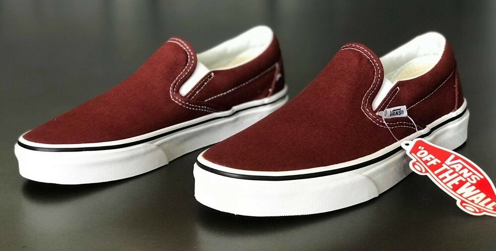 2332cd818f93b9 Details about Vans Classic Slip-On Skate Shoes Men s Size 8.5 Madder Brown