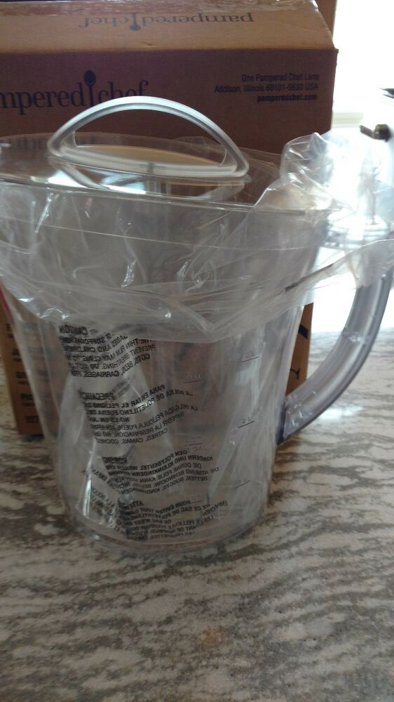 Pampered Chef Mint Condition Quick Stir Pitcher TWO Quarts FREE SHIPPING #2278