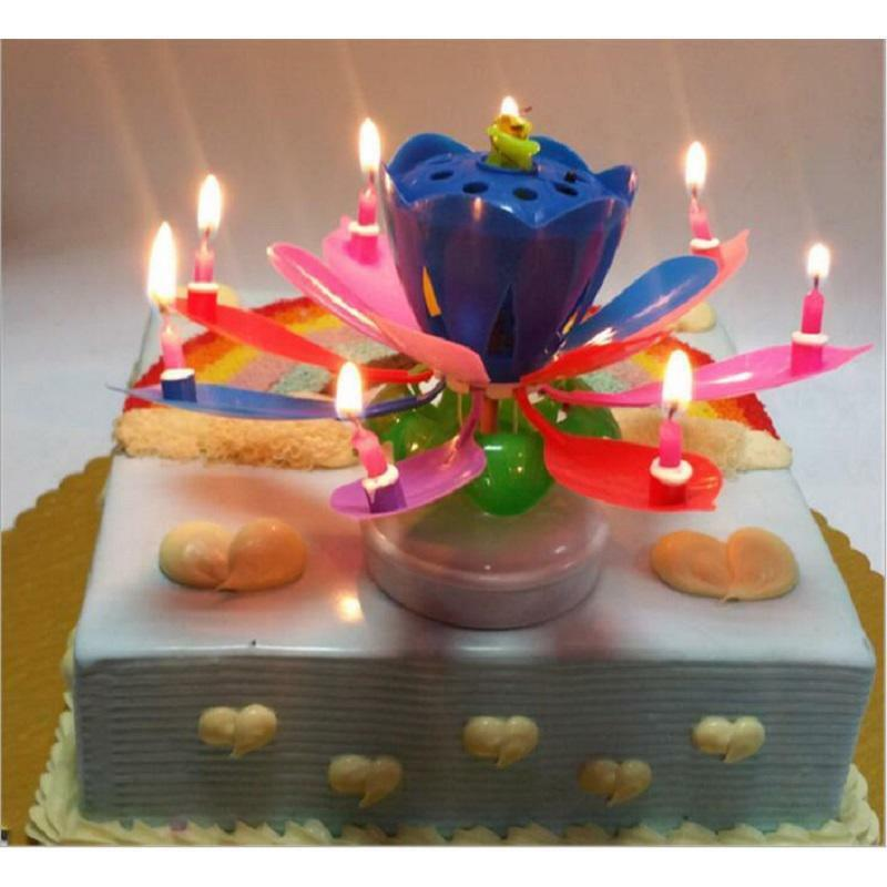 You May Also Like Musical Candle Lotus Flower Rotating Candles Light Happy Birthday