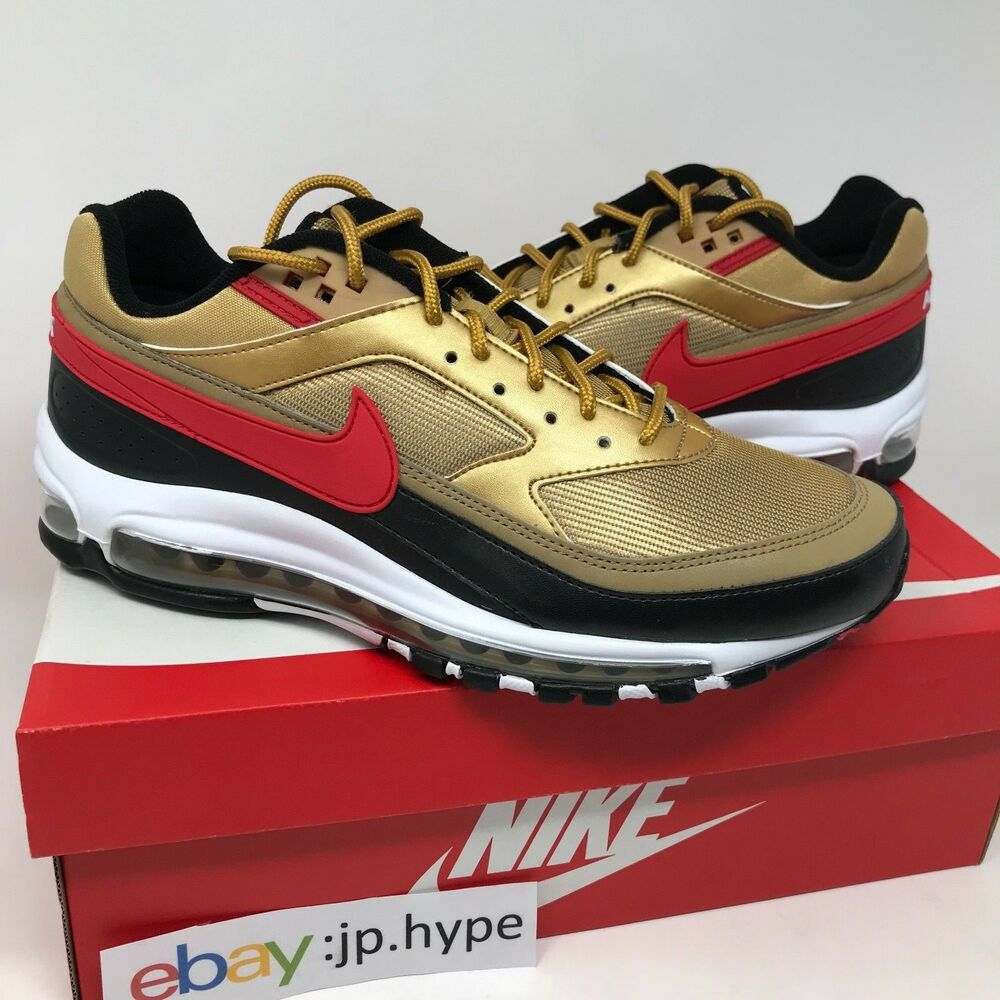 821d08a6b86014 Details about Nike Air Max 97 BW Metallic Gold University Red AO2406-700