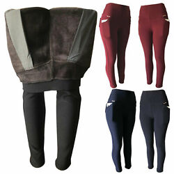 Kyпить Women Winter Fleece Fur Lined Extra Thick Thermal Pants Leggings With Pockets на еВаy.соm