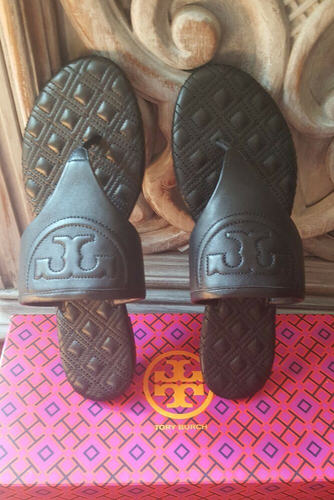 e37349ed57be2 Details about Tory Burch FLEMING FLAT THONG Leather Black - Avail Sizes in  6 7 8 (New in Box)