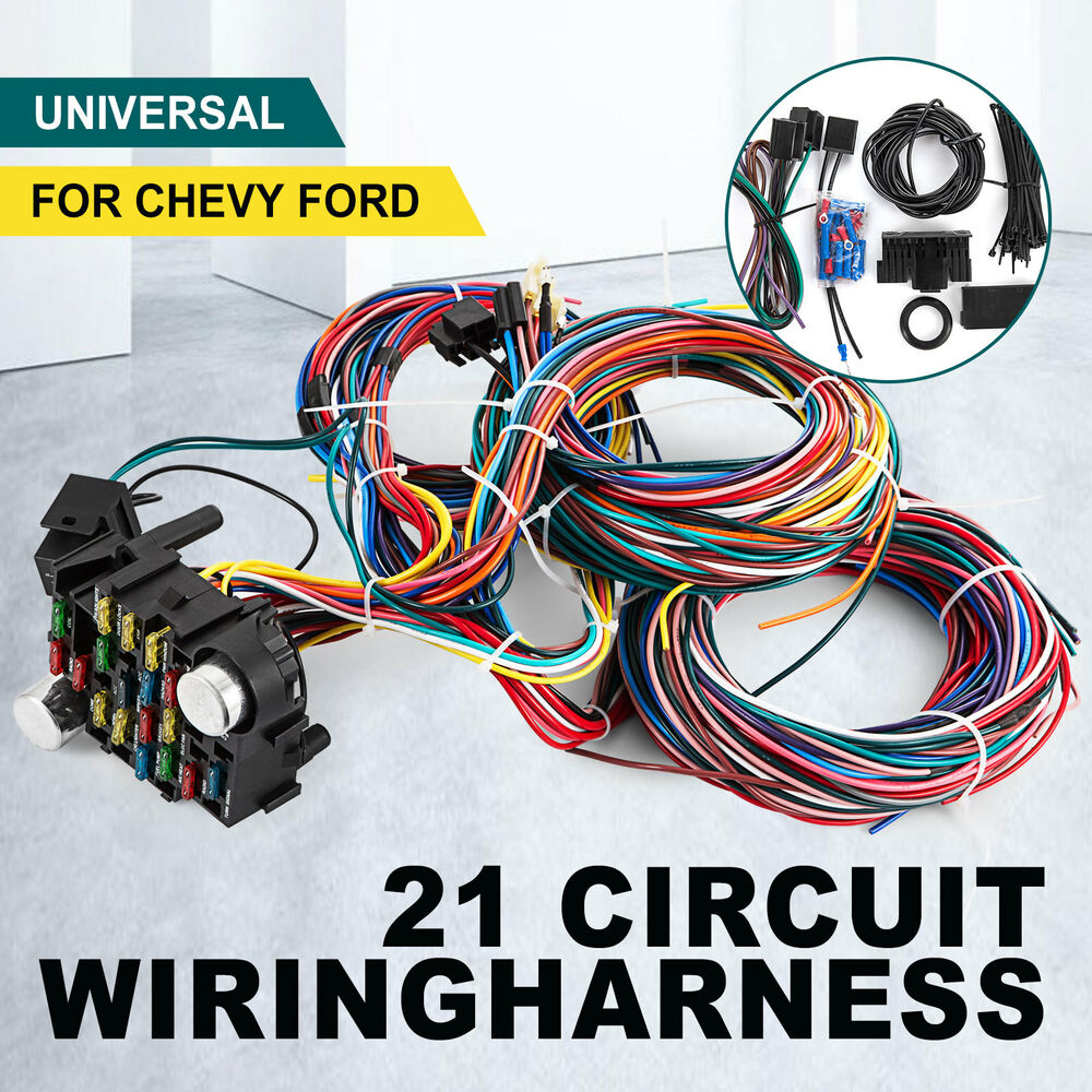 21 circuit wiring harness for chevy universal wires fit x. Black Bedroom Furniture Sets. Home Design Ideas