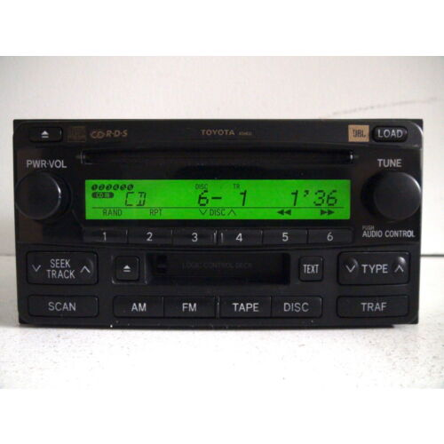 toyota-highlander-20042007-6disc-cd-tape-player-jbl-sound-rds-a56832-tested