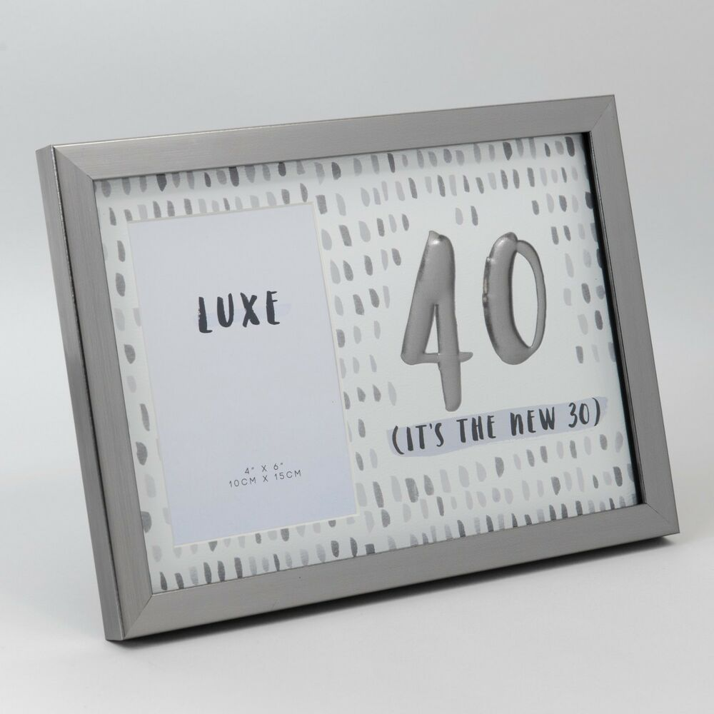 Details About Luxe Birthday Male Gun Metal Frame 4 X 6