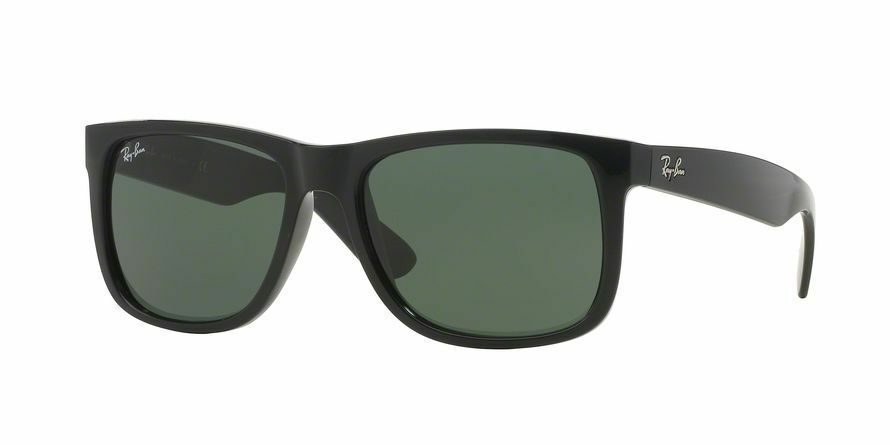 7080ec54bee Details about New   Authentic Ray-Ban Sunglasses Justin RB 4165 601 71 54mm  Black Green Shade