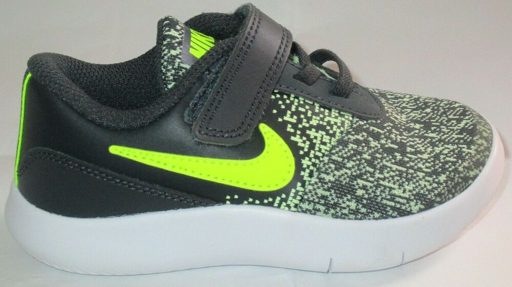 f530dded27b2 Details about BOY S NIKE FLEX CONTACT (TDV) ANTHRACITE VOLT-BARELY TODDLER S  SHOES SIZE 6C