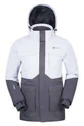 5d3aa2cef2b Mountain Warehouse mens luna ski jacket in grey with taped seams - 2xl