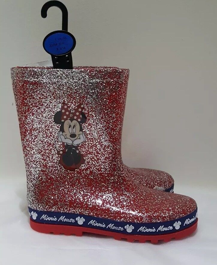 2a1985498d0 Details about DISNEY MINNIE MOUSE GLITTERY WELLIES FROM PRIMARK FOR GIRLS  BMWT