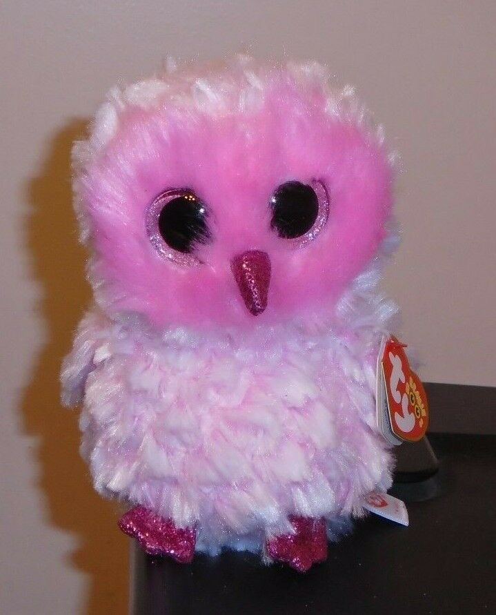 24cd6ddbbe8 NEW Foil Design! Ty Beanie Boos ~ TWIGGY the Pink Owl (6 Inch) NEW ...