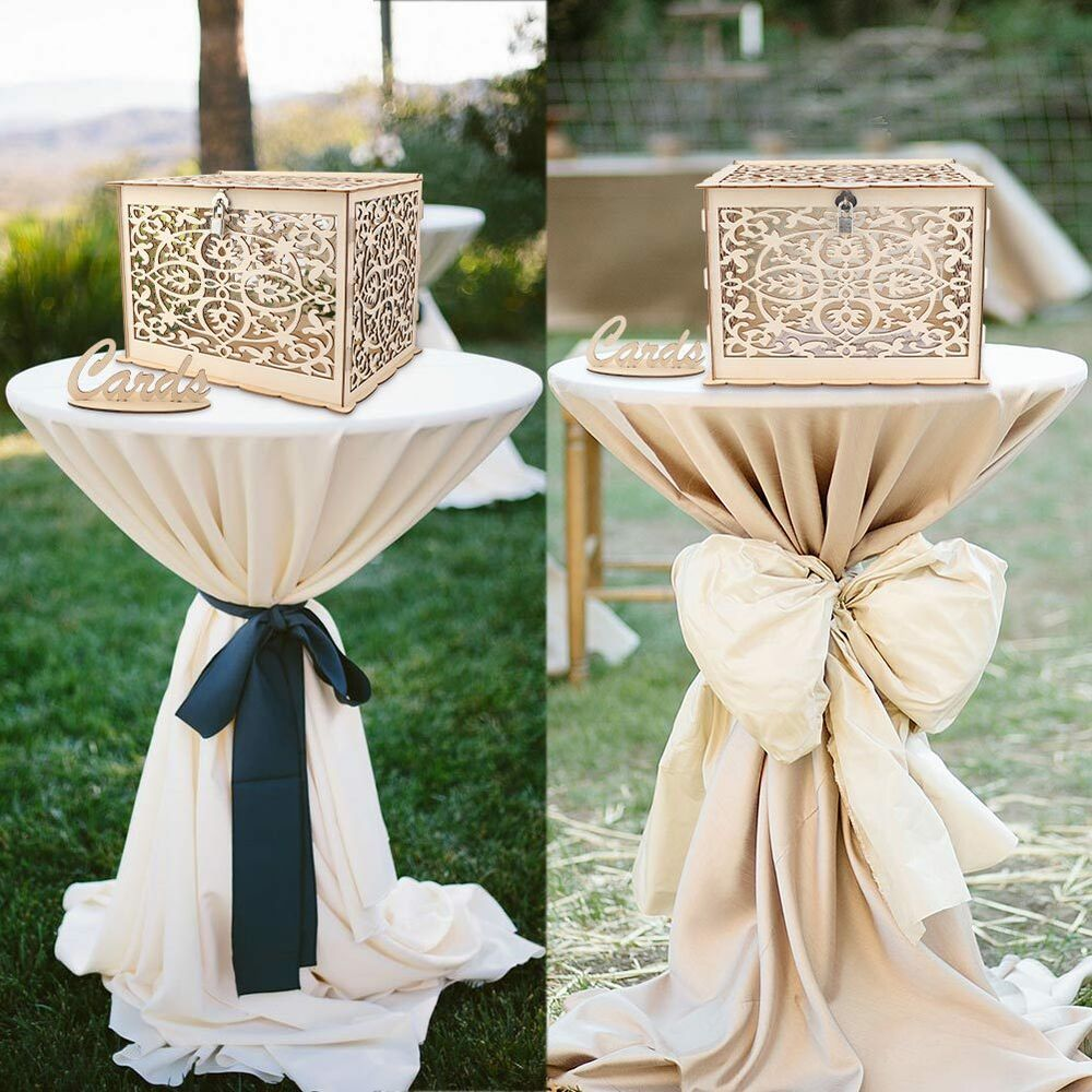 Gift Card Boxes For Weddings: DIY Wedding Gift Card Box Wooden Money Box With Lock