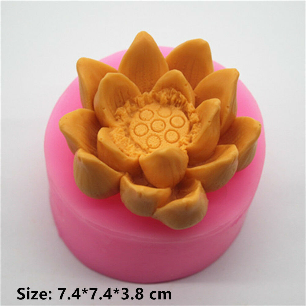 Lotus Flower Plant Silicone Cake Mould Fondant Sugar Chocolate
