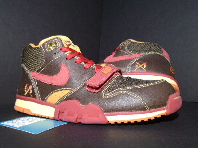 sports shoes a4989 a48da Details about 03 NIKE DUNK AIR TRAINER 1 SB HUF GOLD DIGGERS BROWN PAPRIKA  RED 306193-261 10.5