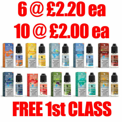 Diamond Mist E Liquid Vape Juice Ecig 10ml 0mg,3mg,6mg,12mg & 18mgNicotine