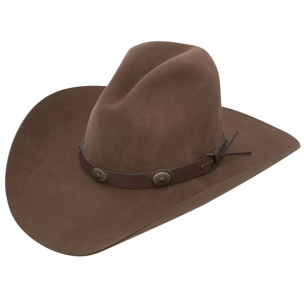 00ce881e Details about Stetson Boot Hill 3X Felt Stallion Collection Cowboy Hat  Acorn Brown 4