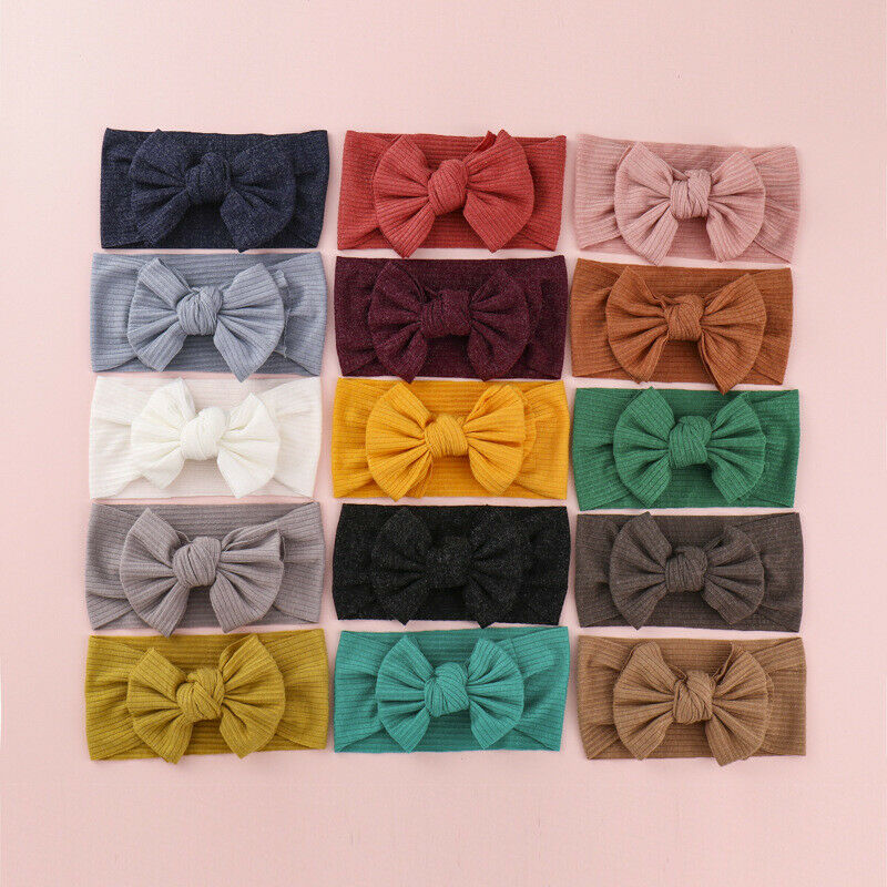 Details about Cute Baby Girls Bunny Kids Turban Knot Rabbit Headband Bow  Hair bands Head wrap 0cd47c03280