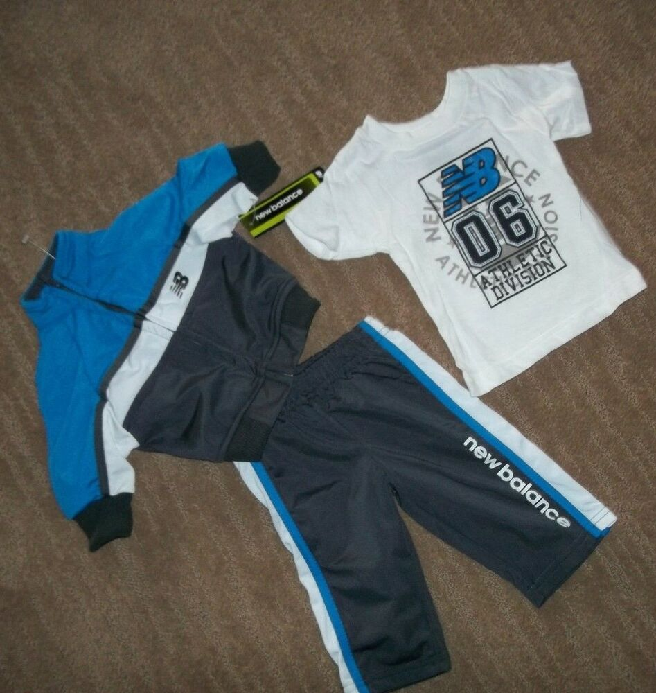 2ca5f4e2a4f1 Details about NEW BALANCE 3 pc Track OUTFIT Set Shirt PANTS JACKET Baby Boys  3 - 6 Months NEW