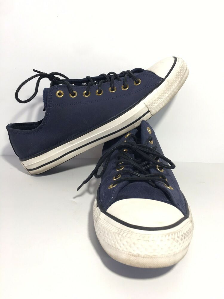 34958e4bbcb4e3 Details about Converse All Star Low Top Navy Blue Shoes Sneakers Mens Size  11 Womens 13 Unisex