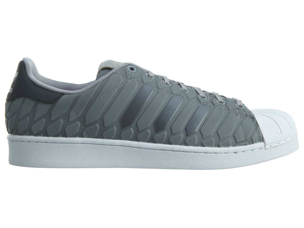 the best attitude 0e72a 0b477 Details about Adidas Superstar Xeno Mens D69367 Onix Grey Reflective Shell  Toe Shoes Size 12
