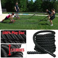 1.5'' 30 FT Strength Training Battle Rope Workout Exercise Fitness Climbing Rope