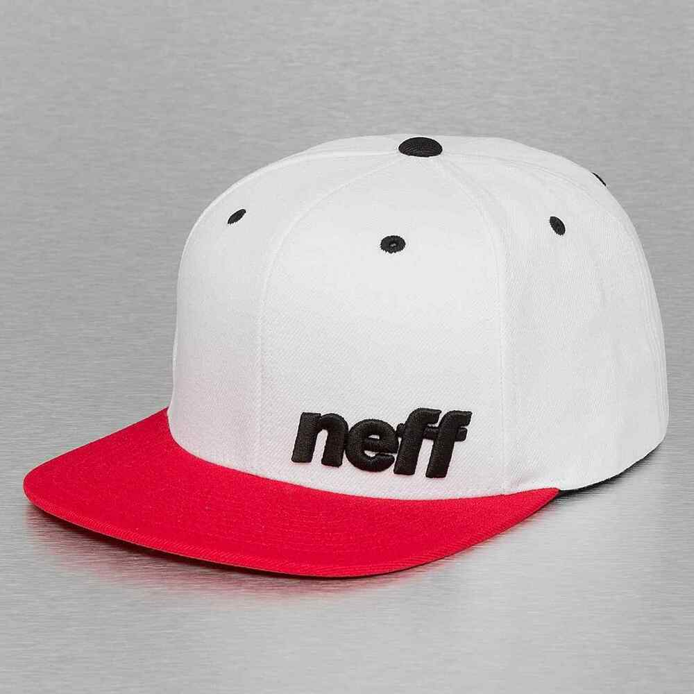 c48b0e3f31b15 Details about Neff Adjustable Mens White Red Daily Snapback Cap Hat New NWT