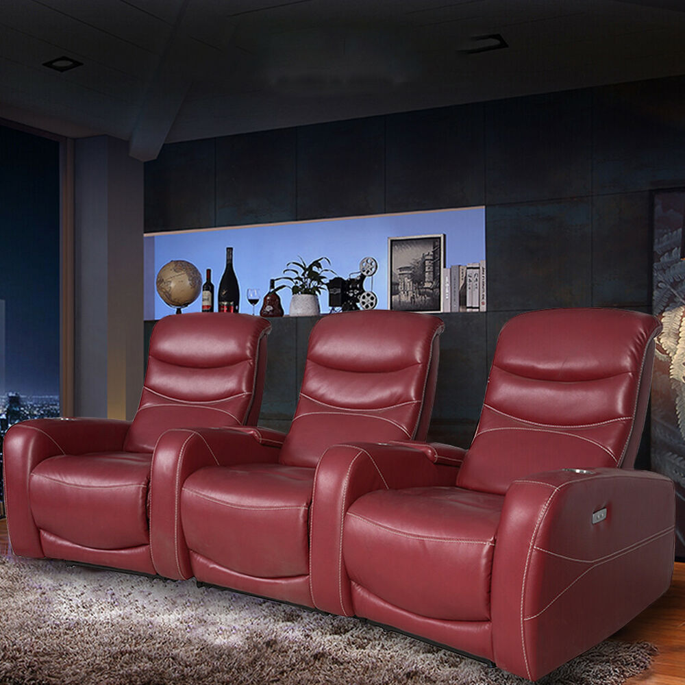 Recliner Sofa Home Theater Seating Reclining Power Sofa Theater