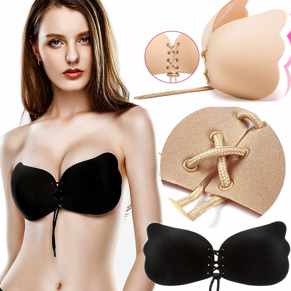 f838a3d05c Details about Women Multiway Strapless Padded Push Up Bra Invisible Clear  Back Straps ABCD liu