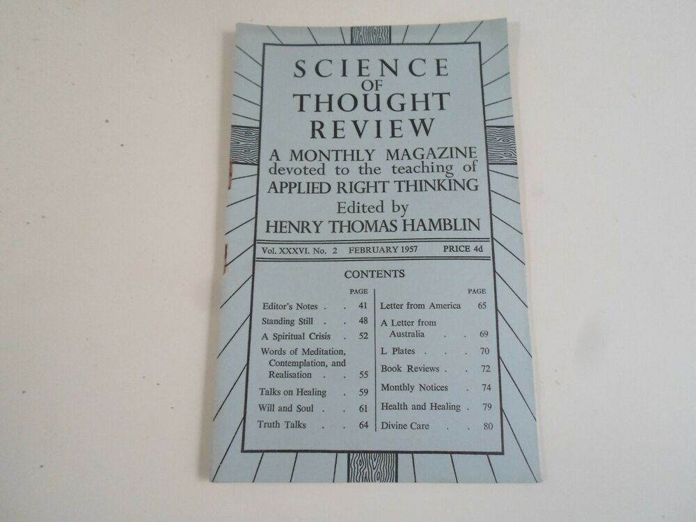 The Science of Thought Vol. 1