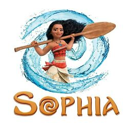 Personalised Any Name Moana Wall Decal 3D Art Stickers Vinyl Room Bedroom 3