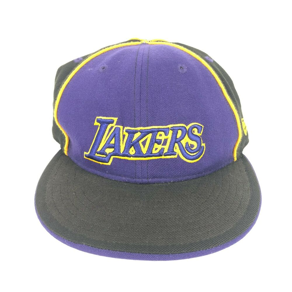 Details about New Era 59Fifty Los Angeles Lakers Fitted Hat Black Men s NBA  Cap 7 1 4 Vintage d6eb22086