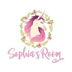 Personalised Unicorn Any Name Wall Decal 3D Art Stickers Vinyl Room Bedroom 15