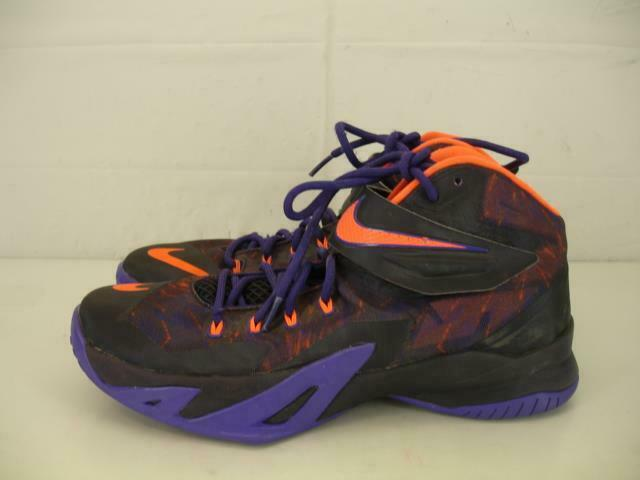 e1df35f9e5d Details about Mens 9.5 Nike LJ Lebron James Zoom Soldier VIII Shoes Purple  Hyper Crimson Black