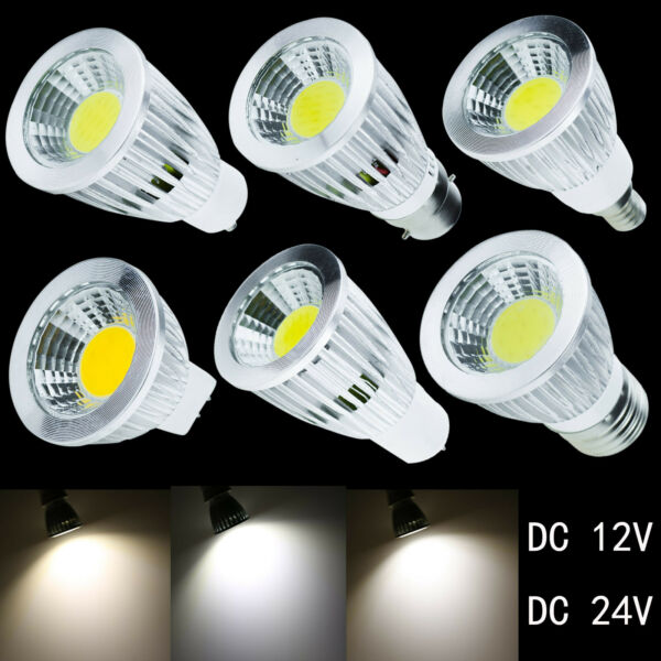 Dimmable E27 E14 B22 GU10 GU5.3 MR16 LED Spot Lights 6W 9W 12W Bulb Lamp 12V 24V