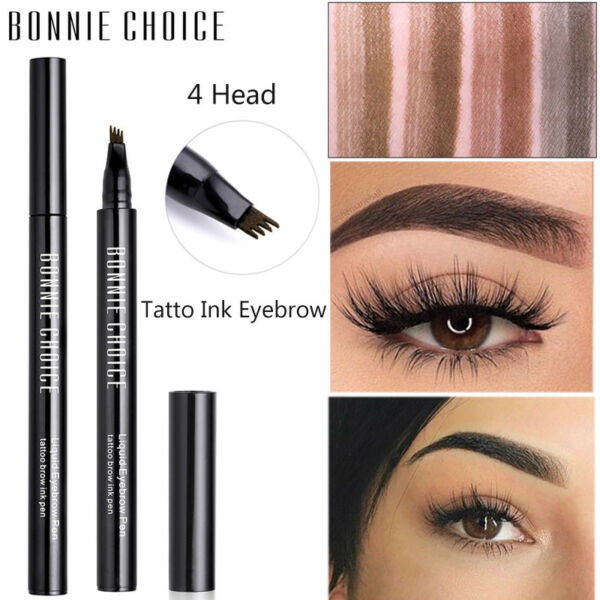 BONNIE CHOICE Four-jaw Crayon à sourcils Waterproof Eyebrow Shapes Maquillage