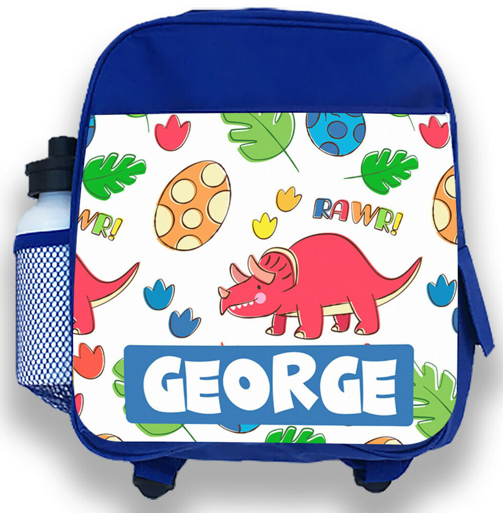 d9c8a6bd44 Personalised Kids Backpack Any Name Dinosaur Boys Childrens Back To School  Bag 6