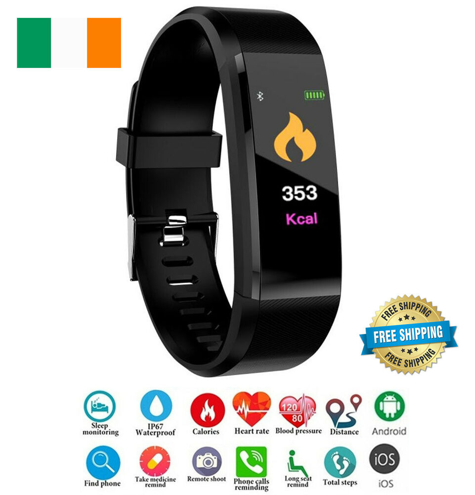 smart watch fitness tracker fitbit bluetooth step caolorie sport android iphone ebay. Black Bedroom Furniture Sets. Home Design Ideas