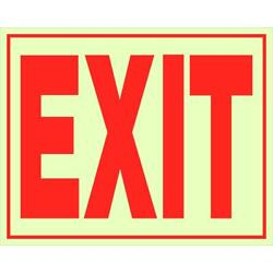 The Hillman Group Glow-in-the-Dark Exit Sign Single Sided Self Adhesive 10 PACK
