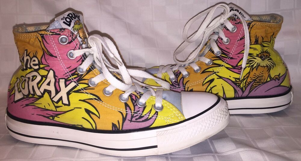 72c229d7d317 Details about Womens 9 CONVERSE CHUCK TAYLOR ALL STAR DR SEUSS LORAX Pink High  Top Sneakers