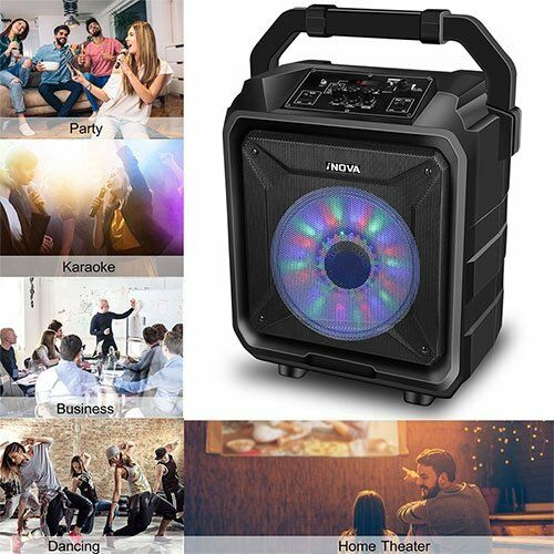 25w Bt Party Speaker System Bluetooth Big Led Portable Stereo