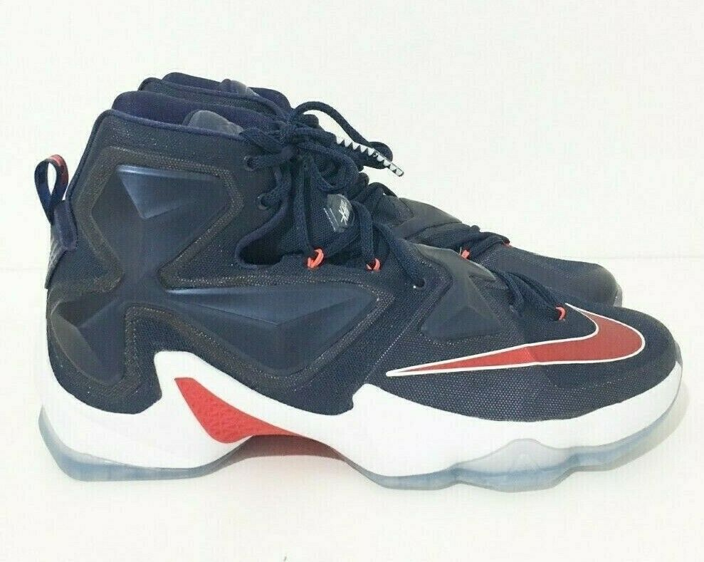 ec50afe0a1a4 Details about Nike Men s Lebron Xlll Mid Navy Basketball Sneakers Shoes 12  New