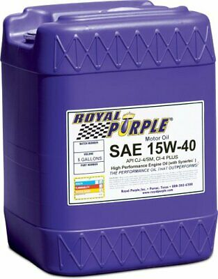 Royal Purple 05154 API-Licensed SAE 15W-40 High Performance Synthetic Motor Oil