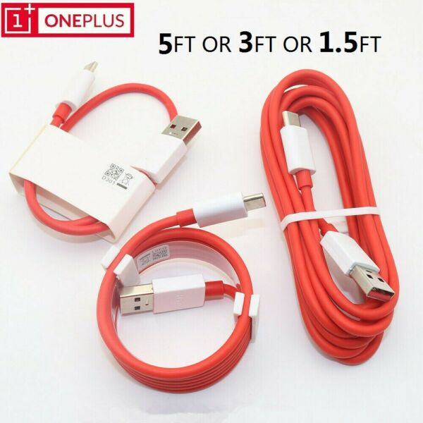 Original OnePlus DASH USB Type-C Cable Fast Charger Sync Cord For 3 3T 5 5T 6 6T