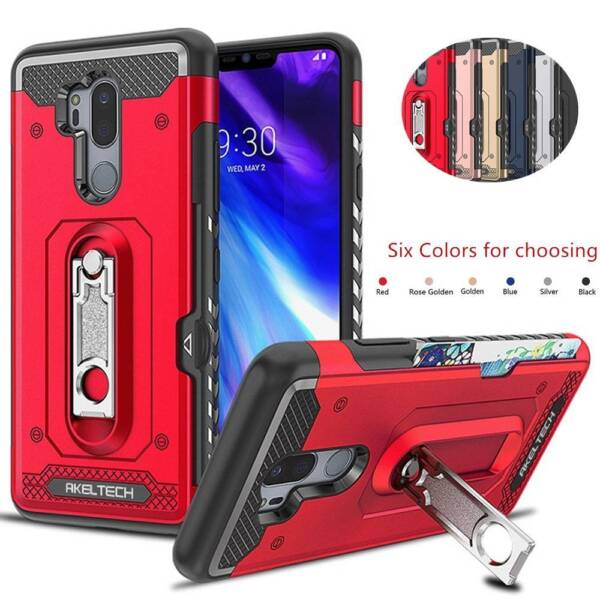 Hammer Armor Shockproof Rugged Case KickStand Tough Phone Cover For LG G7 ThinQ